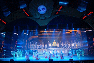 """Qindao night"" theme of the cultural performance of the beloved"